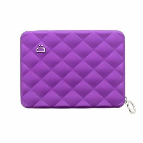 Ogon Quilted Passport Wallet RFID Safe - Purple