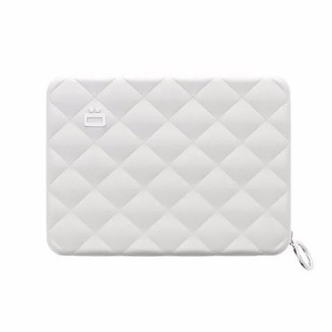 Ogon Quilted Passport Wallet RFID Safe - Silver