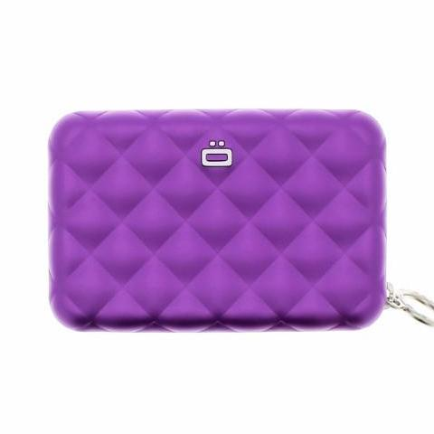 Ogon Quilted Zipper Card Holder RFID Safe - Purple