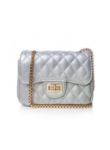 Dazz Quilted Crossbody Bag - Silver