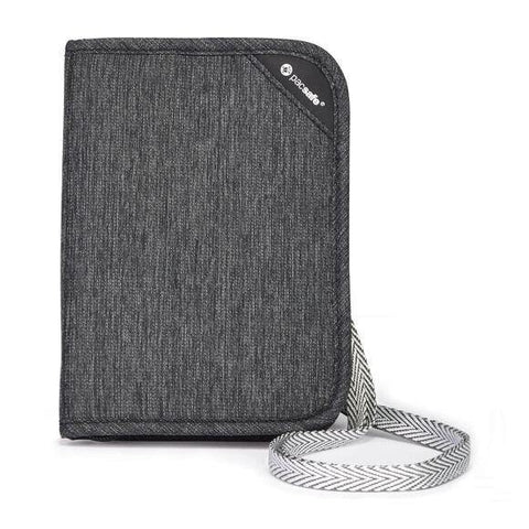 Pacsafe RFIDSAFE V150 Anti-Theft RFID Blocking Compact Organiser - Granite Melange Grey