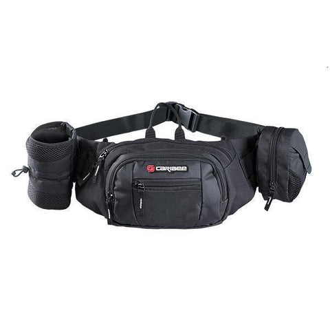 Caribee Road Runner Waist Bag - Black