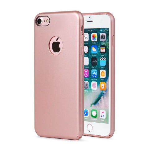 Meleovo Shield Case for Apple iPhone 8 - Rose Gold