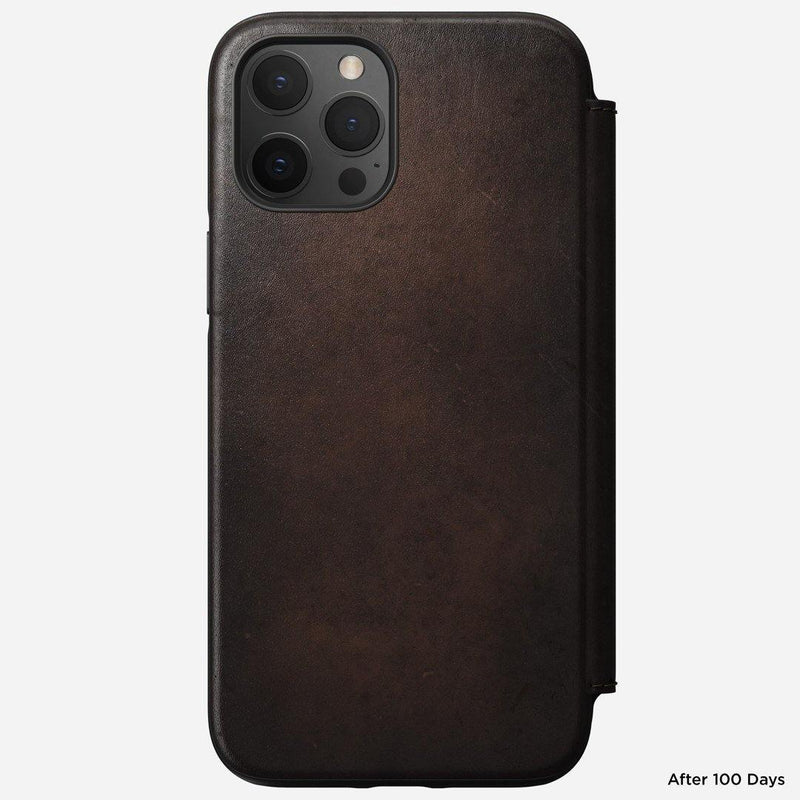 "Nomad Rugged Folio Case for iPhone 12 Pro Max (6.7"") - Rustic Brown"
