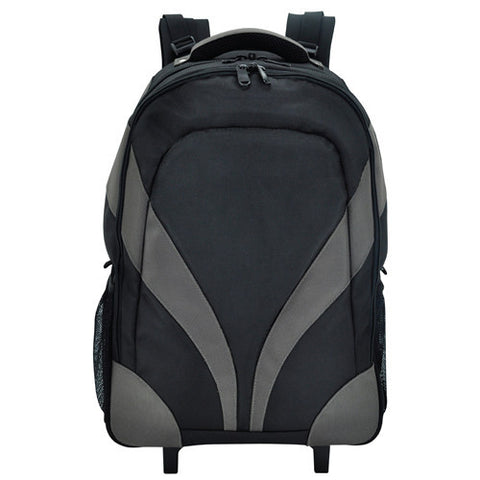 Bagman S02-068CON-01 Rolling Laptop Backpack - Black/Grey - Oribags Sdn Bhd