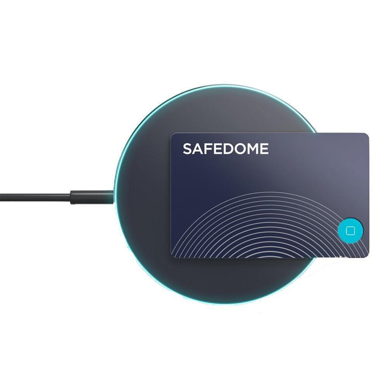 Safedome Recharge Card Bluetooth Tracker + Wireless Charger - Oribags.com
