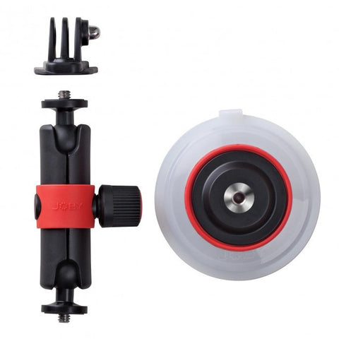Joby Suction Cup & Locking Arm For GoPro / Action Video Cameras - Black/Red - oribags2 - 1