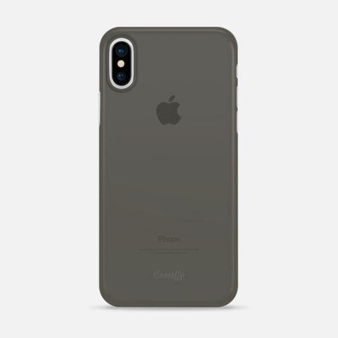 Casetify iPhone X/XS Ultra Thin Skin Case Collection - Charcoal Black