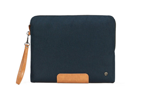 "PKG Slouch laptop sleeve (Fits 14"" laptop / tablet) - Navy Blue/Tan"