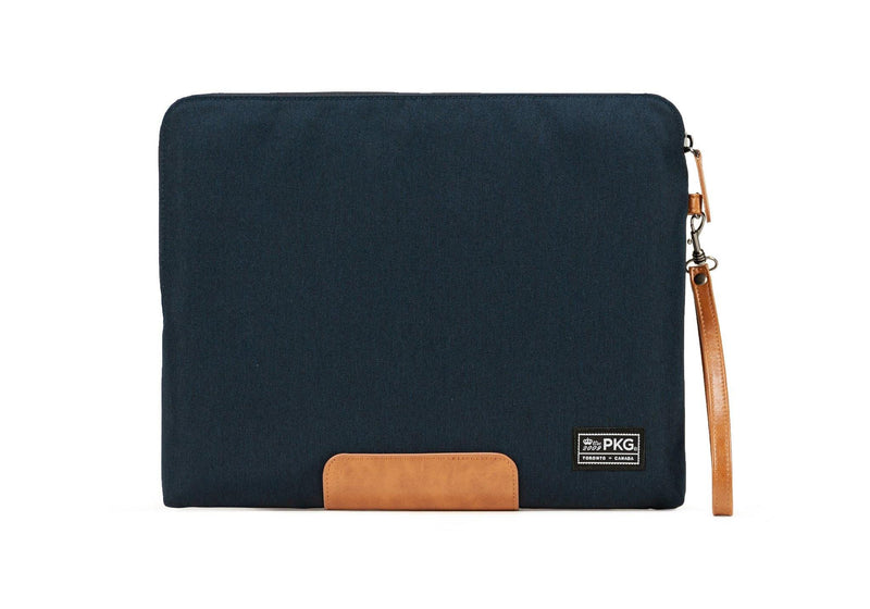 "PKG Slouch laptop sleeve (Fits 14"" laptop / tablet) - Navy Blue/Tan - Oribags.com"