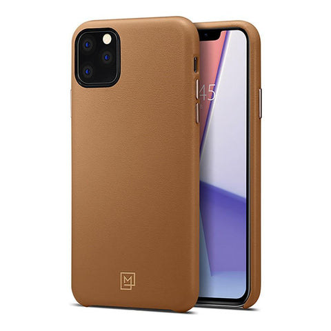 SPIGEN iPhone 11 Pro Max Case La Manon Câlin (Premium Leather) - Camel Brown