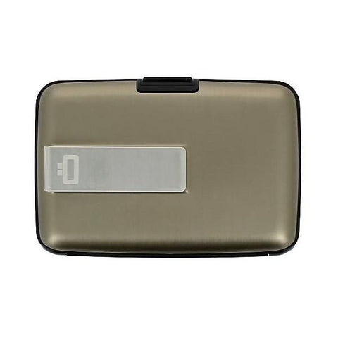 Ogon Stockholm Money Clip Card Case RFID Safe - Dark Grey
