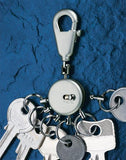 TROIKA Silver Patent Key Holders - 6 Rings