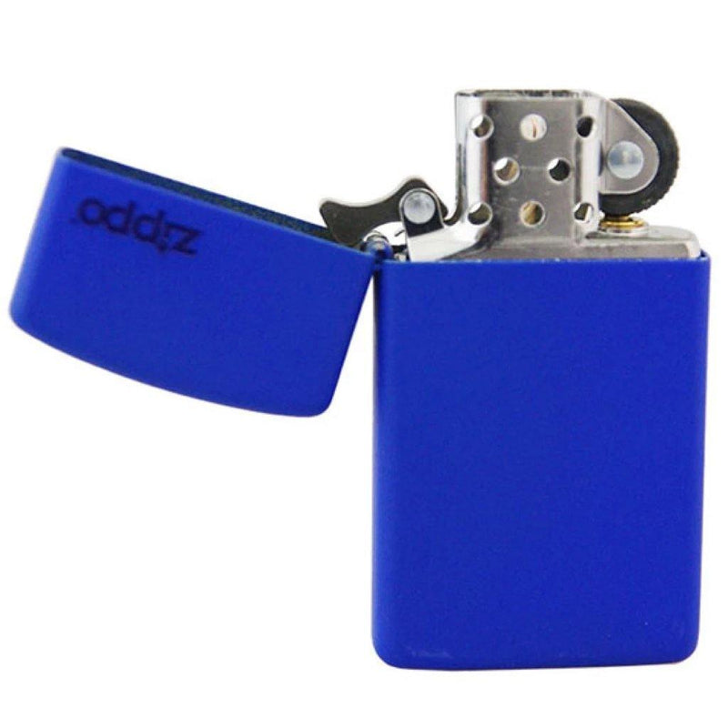 Zippo Slim Royal Blue Matte with Zippo Logo Windproof Lighter (1630ZL) - Oribags.com