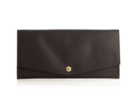 Mule Strada Leather RFID Slim Wallet - Black