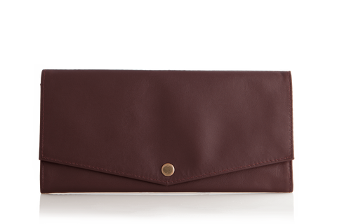 Mule Strada Leather RFID Slim Wallet - Ox Blood