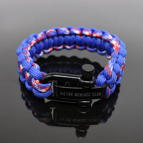 The Meniacc Survivalist Rugged Bracelet - Capt A Blue
