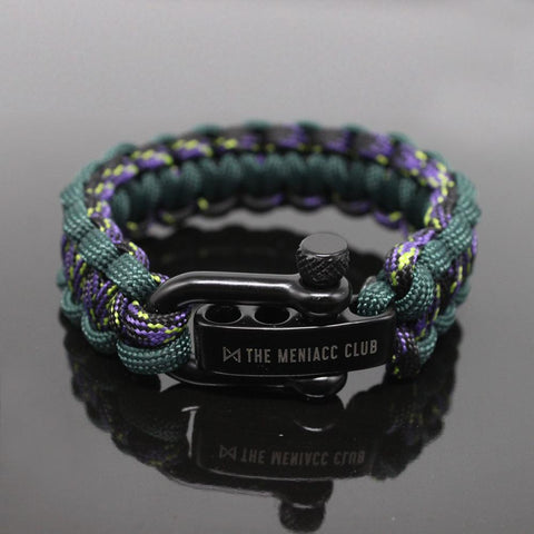 The Meniacc Survivalist Rugged Bracelet - Joker Green