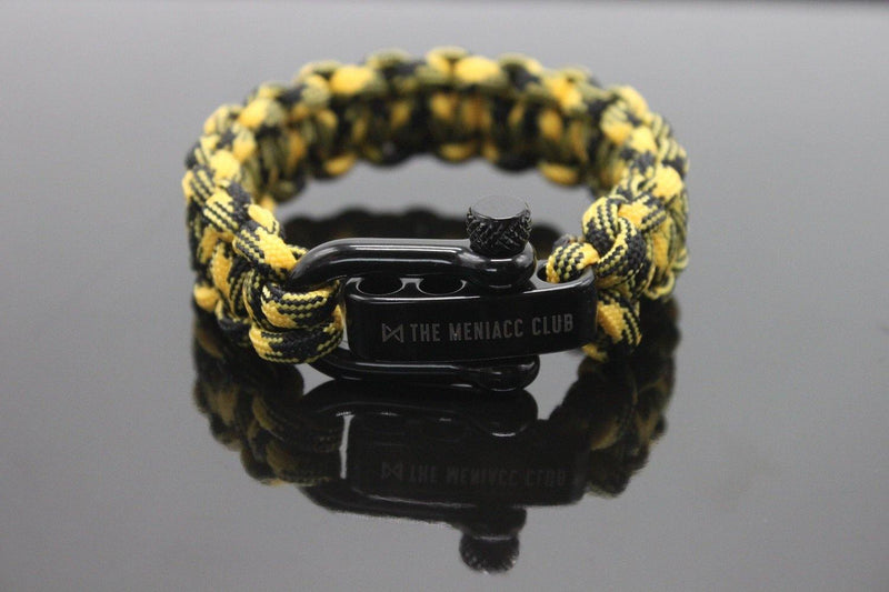 The Meniacc Survivalist Rugged Bracelet - Bumble Bee - Oribags.com