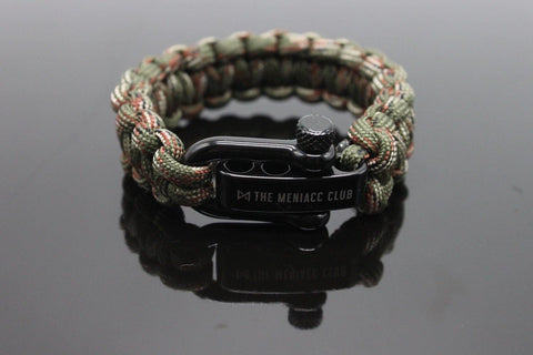 The Meniacc Survivalist Rugged Bracelet - Camo