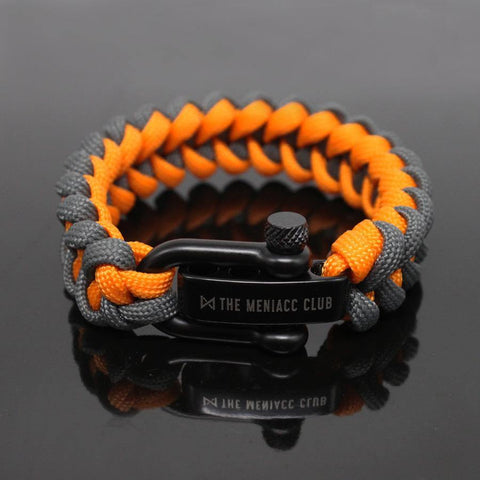 The Meniacc Jawbone Bracelet - Grey Orange