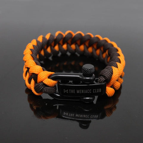 The Meniacc Jawbone Bracelet - Orange Brown