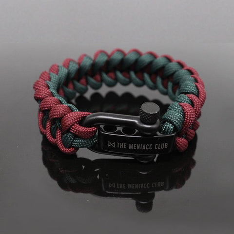 The Meniacc Jawbone Bracelet - Red Green