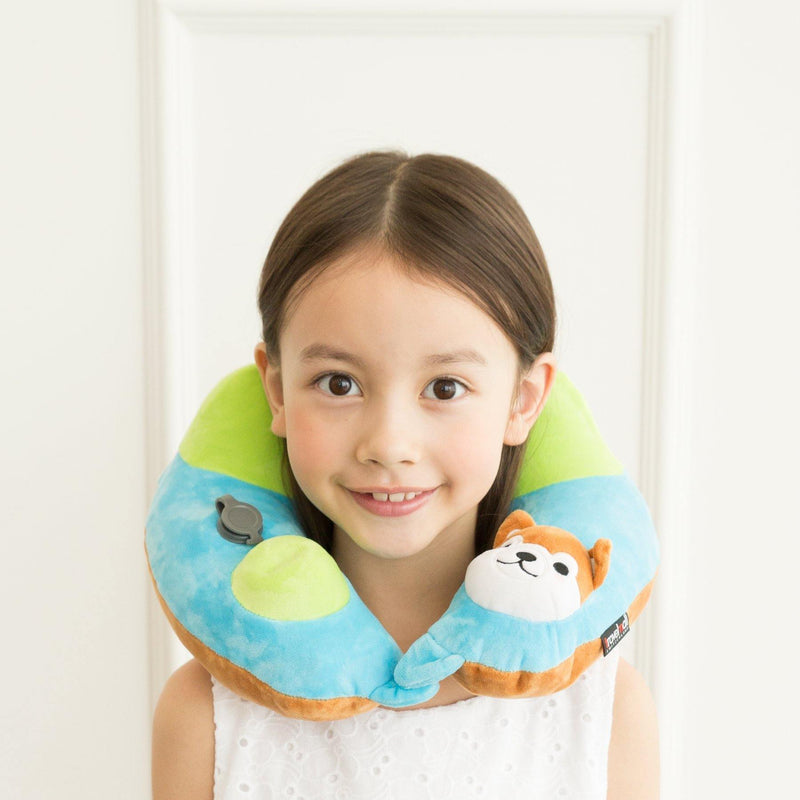 (Promo) TRAVELMALL Shiba Inu 3D Inflatable Neck Pillow with Patented 3D Pump - Oribags.com