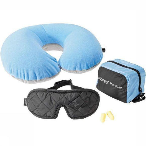 Cocoon Travel Set Ultralight (3 pieces) - Light blue/black