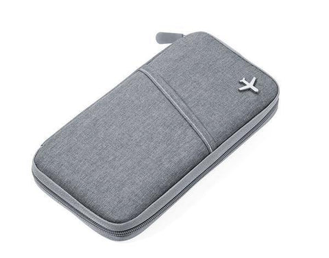 TROIKA Slim Travel Wallet With RFID Protection - Grey