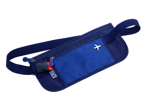 TROIKA Money Belt with RFID Protection - Dark Blue