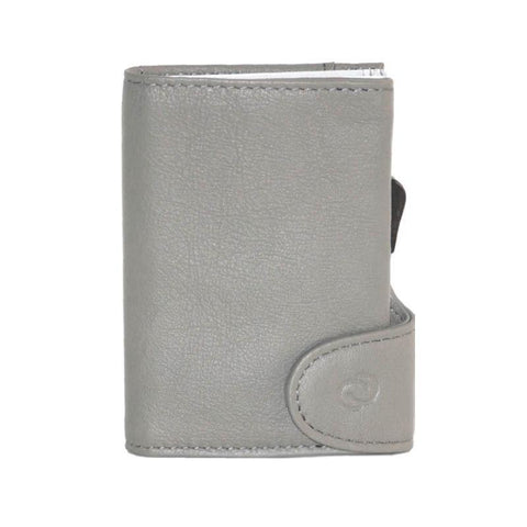 C-Secure RFIDSafe Italian Leather Wallet - Fog