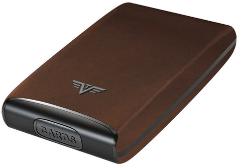 Tru Virtu Credit Card Case Fan Leather - Vegatative Brown - oribags2 - 1