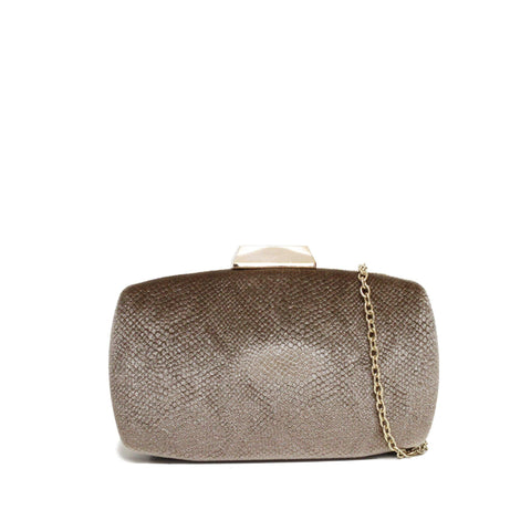 Dazz Velvet Evening Clutch - Beige