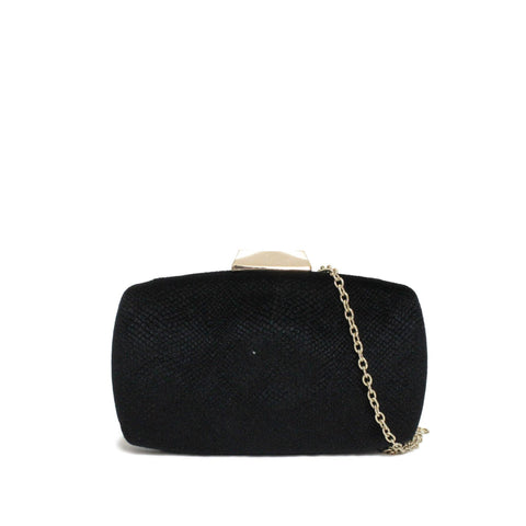 Dazz Velvet Evening Clutch - Black