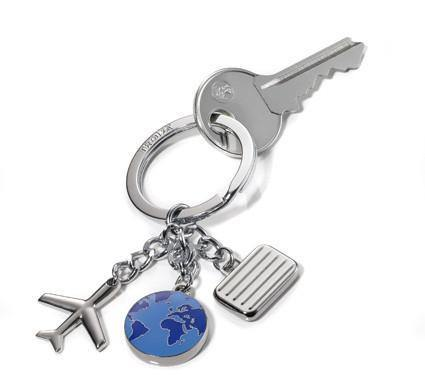 Troika Weltenbumler Travel Themed Charm Key Chain - Oribags.com