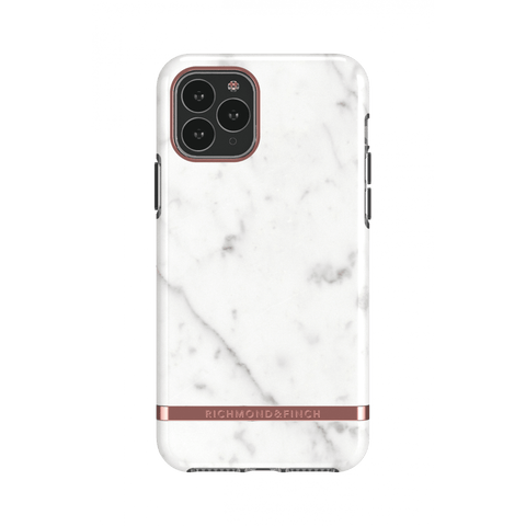 (Clearance) Richmond & Finch White Marble IPhone 11 Pro Max Case - Rose Gold Details