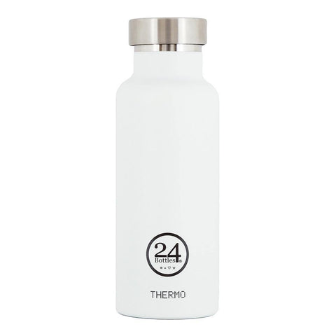 24 Bottles Thermo Water Bottle 0.5L - Ice White