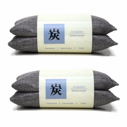 Bamboo Charcoal Air Deodorant 80g (4 pcs) - Grey - oribags2 - 1
