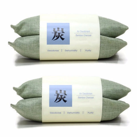 Bamboo Charcoal Air Deodorant 80g (4 pcs) - Green - oribags2 - 1