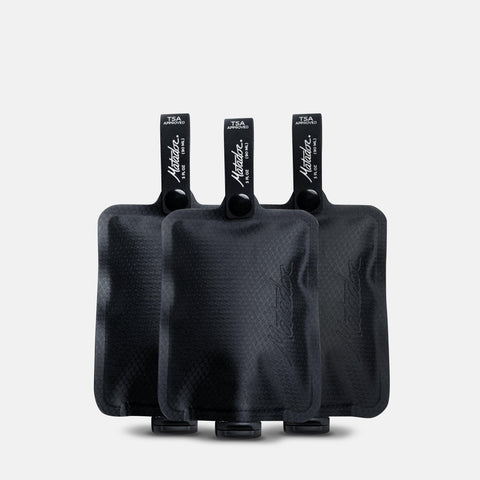 Matador FlatPak Toiletry Bottle (3 Pack) - Black