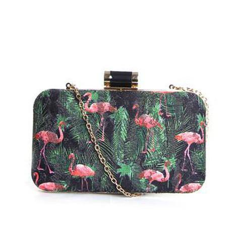 Dazz Flamingo Lace Cutch