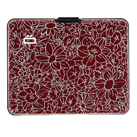 Ogon Big Stockholm Wallet RFID Safe - Flowers Print