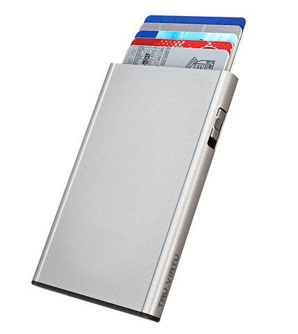 Tru Virtu Click & Slide Card Case - Silver Arrow