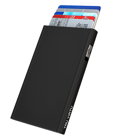 Tru Virtu Click & Slide Card Case - Black Magic