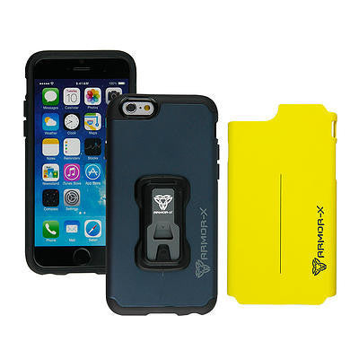 Armor-X Rugged Case with X-Mount System & Dual Design for iPhone 6/6s - Navy - Oribags Sdn Bhd