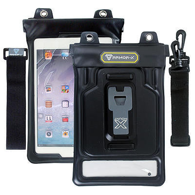 "Armor-X Waterproof (3m) Sport Cover with Hand, Shoulder Strap & X-Mount Adaptor for iPad Mini & 7-8"" Tablets - Oribags Sdn Bhd"