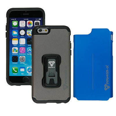 Armor-X Rugged Case with X-Mount System & Dual Design for iPhone 6/6s - Charcoal - Oribags Sdn Bhd
