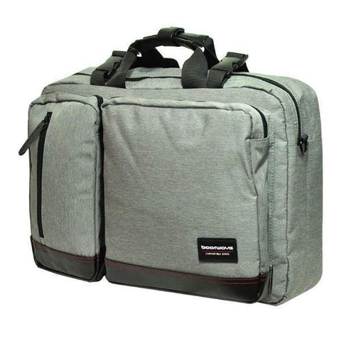 "BoomWave 3 Way Carry Convertible Series Business 15"" Laptop Bag CS003 - Grey"