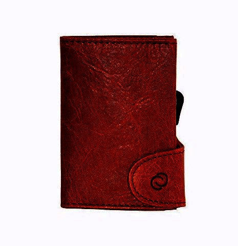 C-Secure RFIDSafe Italian Leather Wallet - Bordeaux
